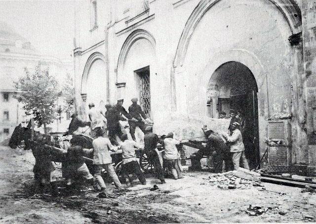 Перенесение останков цариц и княгинь в1929 году.